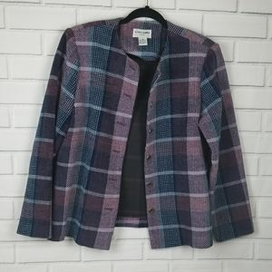 ALFRED DUNNER PLAID BLAZER SIZE 12P
